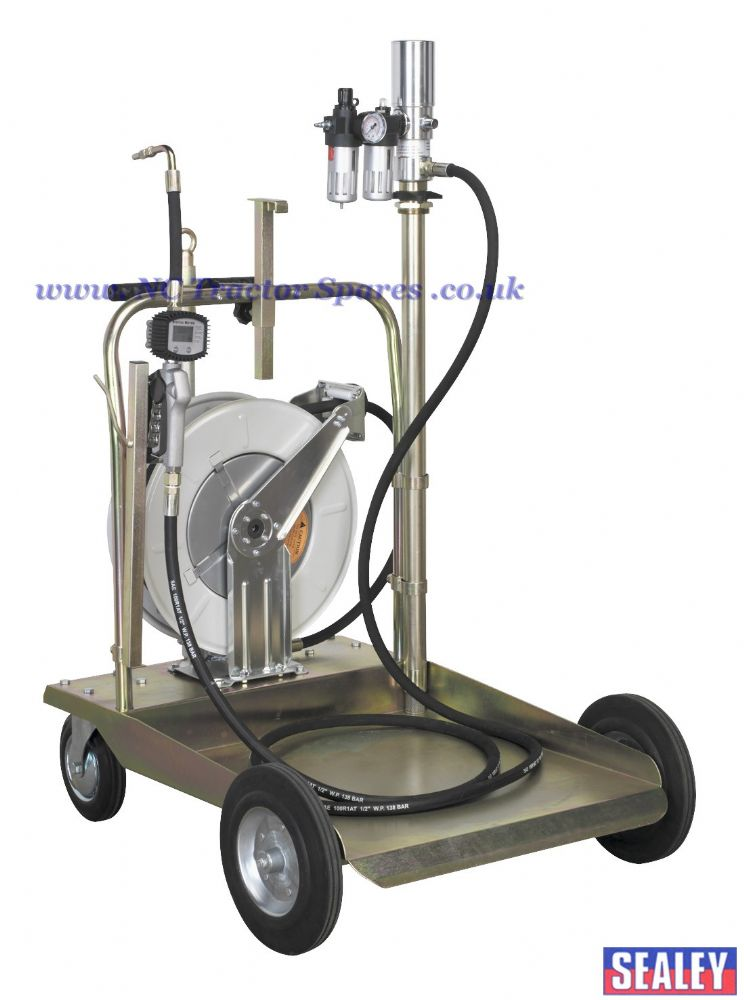 Oil Dispensing System Air Operated with 10mtr Retractable Hose Reel